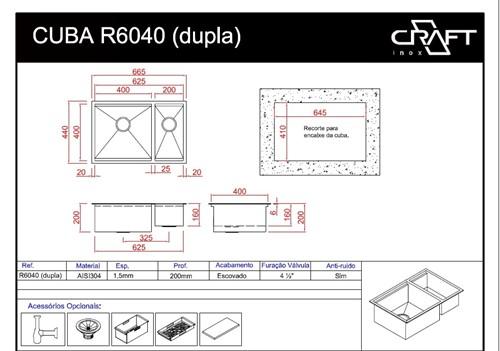 CUBA CRAFT QUADRATO R6040D