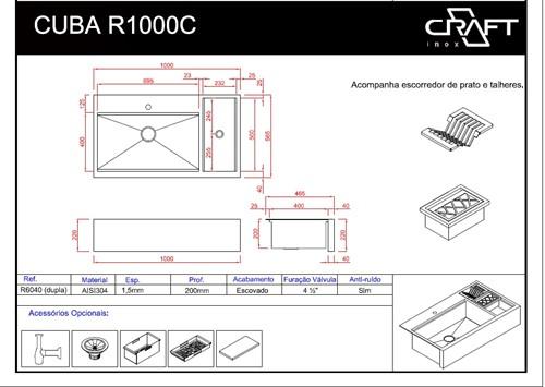 CUBA CRAFT FARMSINK R1000C