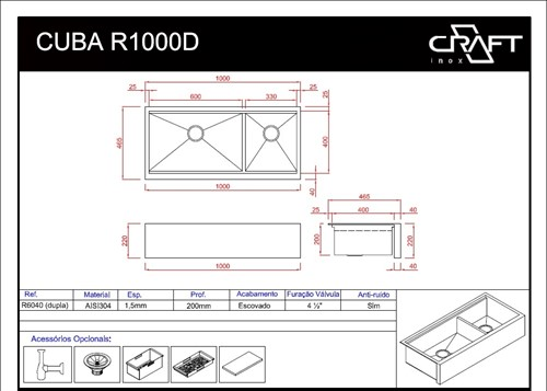 CUBA CRAFT FARMSINK R1000D