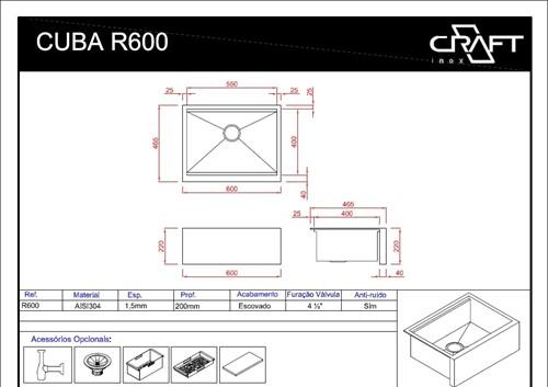 CUBA CRAFT FARMSINK R600