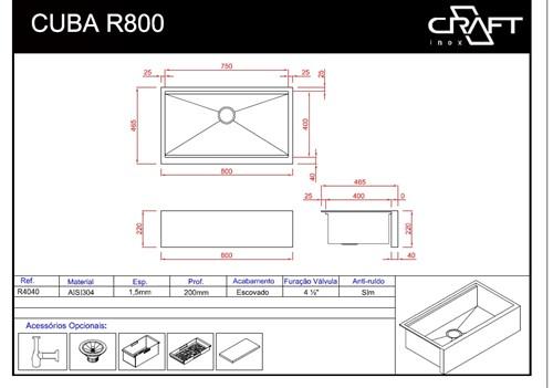 CUBAS CRAFT FARMSINK R800