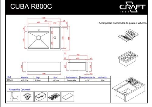 CUBA CRAFT FARMSINK R800C