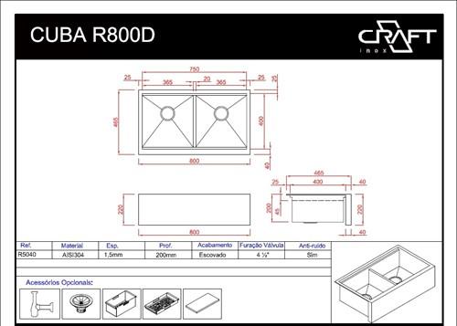 CUBA CRAFT FARMSINK R800D