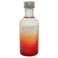 Vodka Absolut Apeach 50ml Miniatura