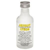 Vodka Absolut Citron 50ml Miniatura