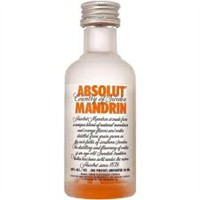 Vodka Absolut Mandrin 50ml miniatura