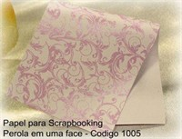 "Cardstock Decorado Perolizado 12x12"" - Renda Rosa Beb� - Diamond Papers"