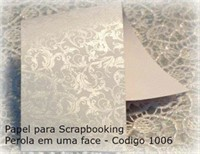 "Cardstock Decorado Perolizado 12x12"" - Renda Branco - Diamond Papers"
