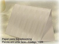 "Cardstock Decorado Perolizado 12x12"" - Listra Risque Branco - Diamond Papers"