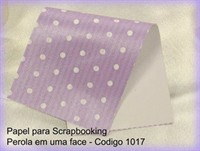 "Cardstock Decorado Perolizado 12x12"" - Lil�s com Bolinhas - Diamond Papers"