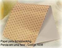 "Cardstock Decorado Perolizado 12x12"" - Mini Bolinhas Marrom - Diamond Papers"