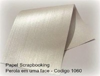 "Cardstock Decorado Perolizado 12x12"" - Patna Branco - Diamond Papers"