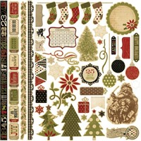 "25 Days of Christmas Fundamentals Cardstock Stickers 12x12"" - Simple Stories"