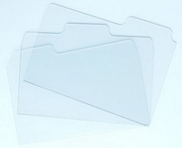 Bind-it-All - Clear Acrylic Folder Tabs - 3 pe�as - 7.5x5