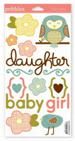 Lil Miss Baby Stickers - Pebbles Inc.