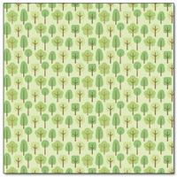 "Papel Decorado 12x12"" - Doodlebug - Mother Nature - Friendly Forest"
