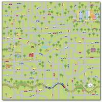 "Papel Decorado 12x12"" - Doodlebug - On the Go - Town & Country"