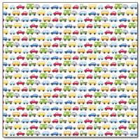 """Papel Decorado 12x12"""" - Doodlebug - On the Go - Bumper to Bumper"""