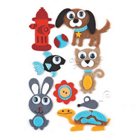 Woolies Felt Stickers - Max & Whiskers - Basic Grey