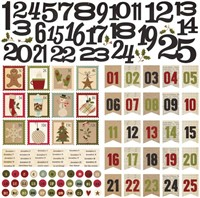 "Handmade Holiday Countdown Cardstock Stickers 12x12"" - Simple Stories"