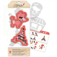 Sweet Sugarbelle - Cookie Cutter Set - Oh Lá Lá - American Crafts - 7 pc.
