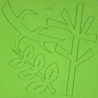 Cartela 10x10 cm Arte.1 - Ramos - Verde
