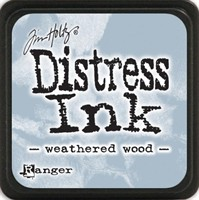 Tim Holtz Mini Distress Ink Pad - Weathered Wood - Ranger