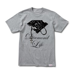 CAMISETA DIAMOND ROSE BRILLIANT TEE IN HEATHER