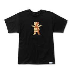 CAMISETA GRIZZLY BRANCH CAMO LOGO TEE BLACK/OLIVE