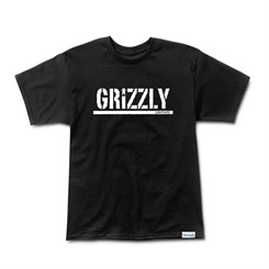 CAMISETA GRIZZLY STAMP PRINT TEE BLACK