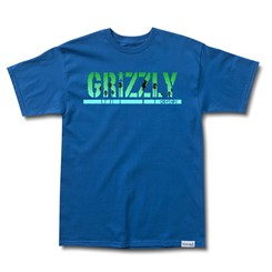 CAMISETA GRIZZLY SUNSET STAMP TEE IN AZUL