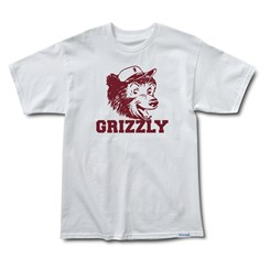 CAMISETA GRIZZLY THROWBACK BEAR TEE IN WHITE