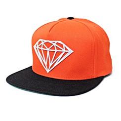 BONÉ DIAMOND ROCK LOGO SNAPBACK HAT IN ORANGE