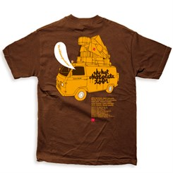 Camiseta Chocolate Tour-Hot Chocolate 2004 Marrom