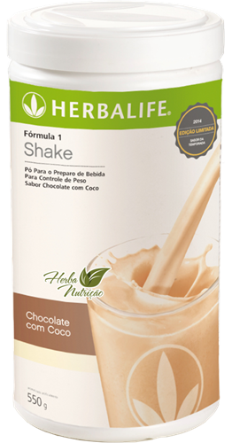 Shake Herbalife - Chocolate com coco