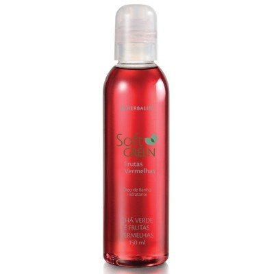 Herbalife Óleo de Banho Hidratante Desodorante Frutas Vermelhas
