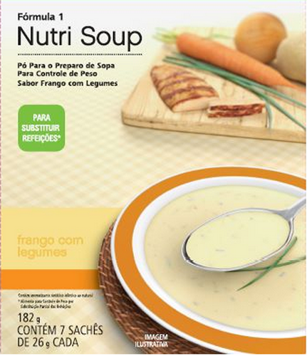 Nutri Soup Herbalife - Caixa 7 sachês