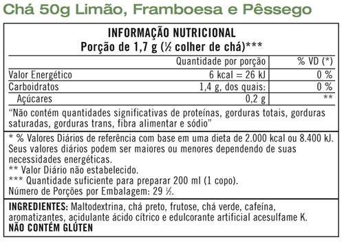 Chá Herbalife Thermojetics Limão 50g - 29 porções