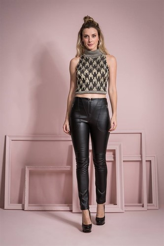 CROPPED TRICOT LUREX