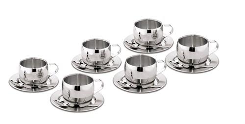 Jogo para Chá Inox 18 peças Tramontina - 64430/820