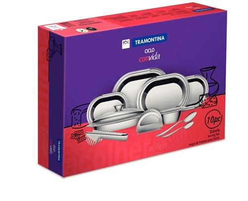 Jogo de Baixelas Inox Ciclo 10 peças Tramontina - 64510/020