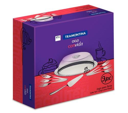 Jogo para Torta Inox Ciclo 9 peças Tramontina - 64510/880