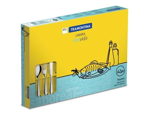 Faqueiro Inox Laguna 42 peças Tramontina - 66906/770