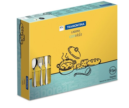 Faqueiro Inox Laguna 91 peças Tramontina - 66906/890