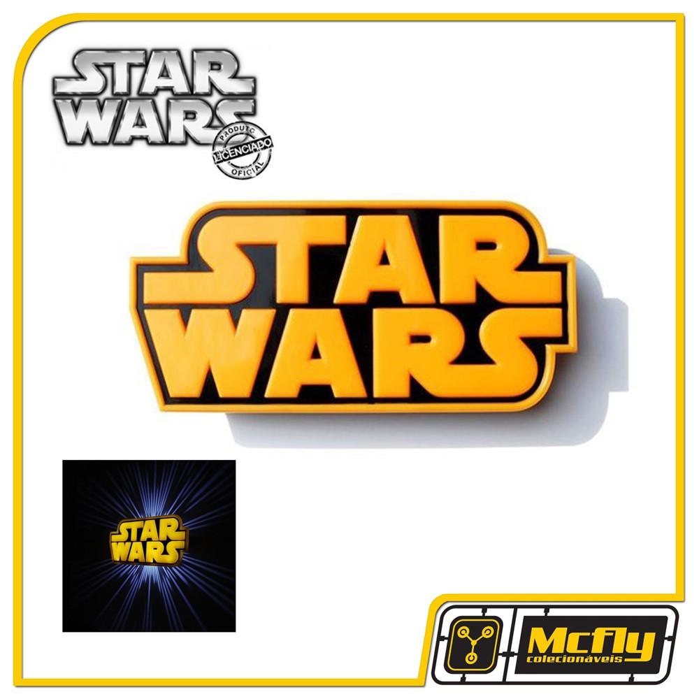 d8092559e9 Luminária 3D Light FX Star Wars Logo com LED - Loja - São Paulo