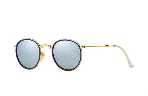 b7089dd7c30d2 Ray Ban Round 3517 Dobrável - Armação Dourado Lentes Cinza Espelhado - 001  30 - Comprar - Preço Santa Catarina
