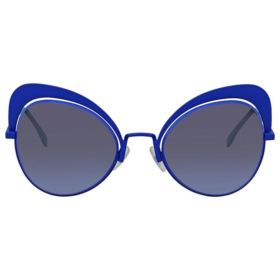 Fendi Eyeshine - Armação Metal Azul, Lentes Azul - PJPGB - Comprar ... 51123fe951