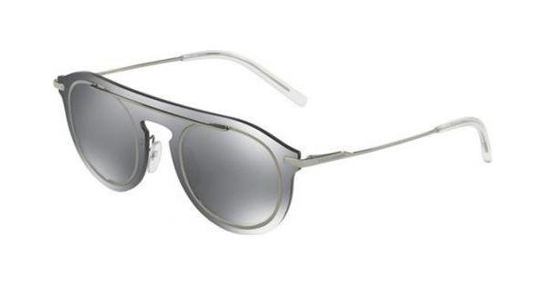 e3ccc9c974 Dolce & Gabbana 2169 - Armação Metal máscara, Lentes Flat Cinza Flash  Espelhado - 046G