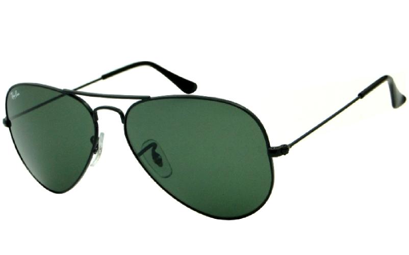 d1ff61564ef18 Ray Ban Aviador 3025L - Armação Preta Lente Verde G15 Polarizado - 00258