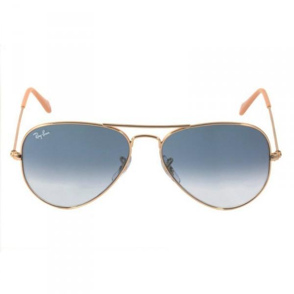 9726c91d9a083 Ray Ban 3025L - Armação Metal Dourado, Lentes Azul Degradê - 0013F ...